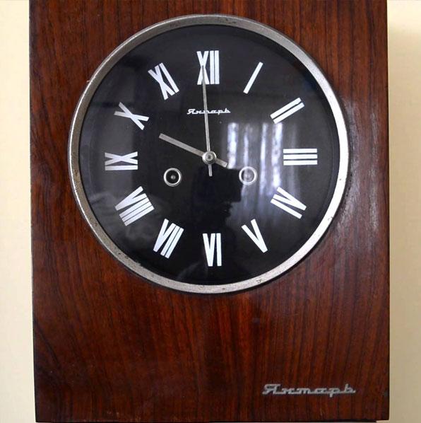 Часы янтарь с боем ремонт
